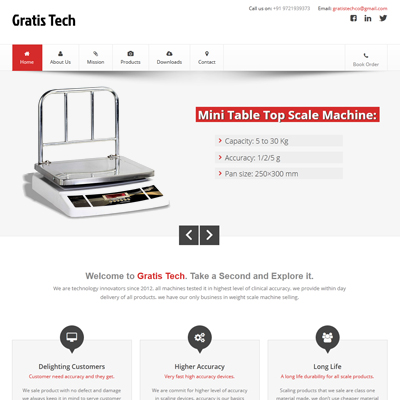 Weight scale website design by basti express