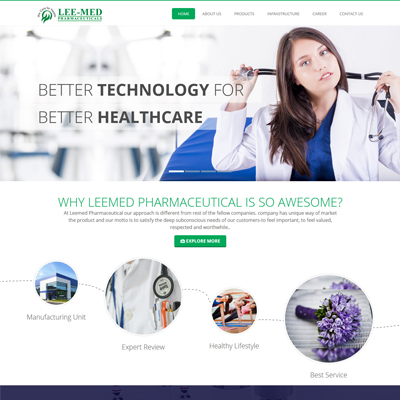 Healthcare Website design by basti express