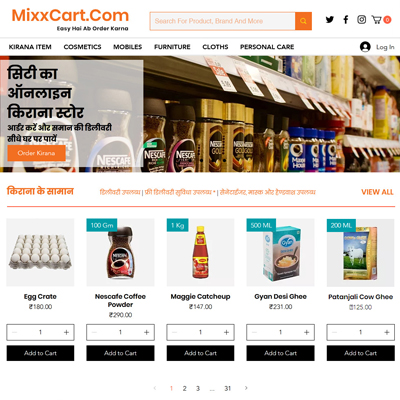 Grocery Shop Website design by basti express