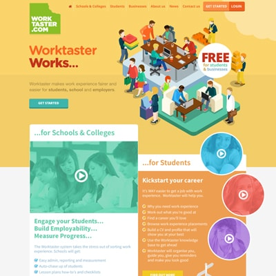 Web design portfolio education