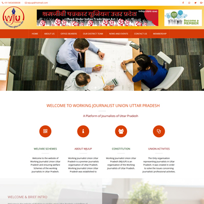 Press Union Website design by basti express