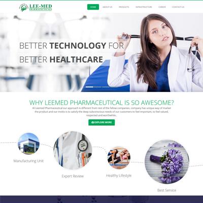 Healthcare Website design by basti express