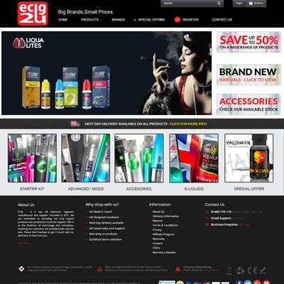 Web design portfolio vaporiser
