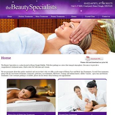 Web design portfolio beauty spa